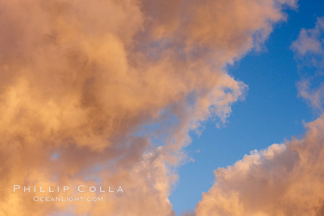 Clouds form at dawn before a storm rolls in. Carlsbad, California, USA, natural history stock photograph, photo id 22475