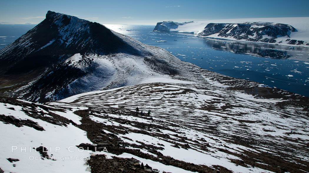 Summit of Devil Island, with Vega Island in the distance. Antarctic Peninsula, Antarctica, natural history stock photograph, photo id 24880