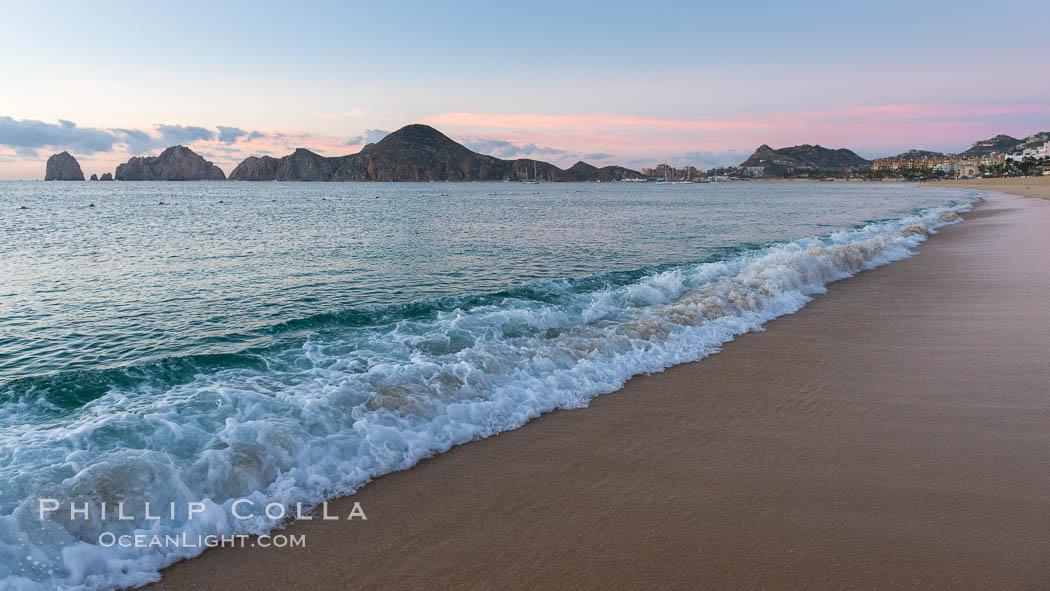 Sunrise On Medano Beach The Coast Of Cabo San Lucas Mexico