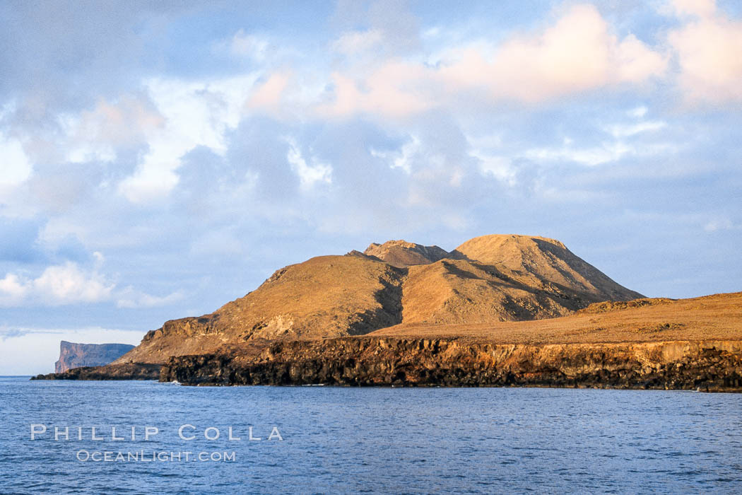Sunrise on morros near south end of Guadalupe Island. Guadalupe Island (Isla Guadalupe), Baja California, Mexico, natural history stock photograph, photo id 03706