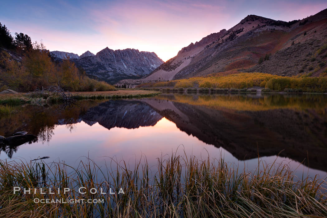 Sunset on North Lake in the eastern Sierra Nevada, autumn. Bishop Creek Canyon Sierra Nevada Mountains, California, USA, natural history stock photograph, photo id 26054