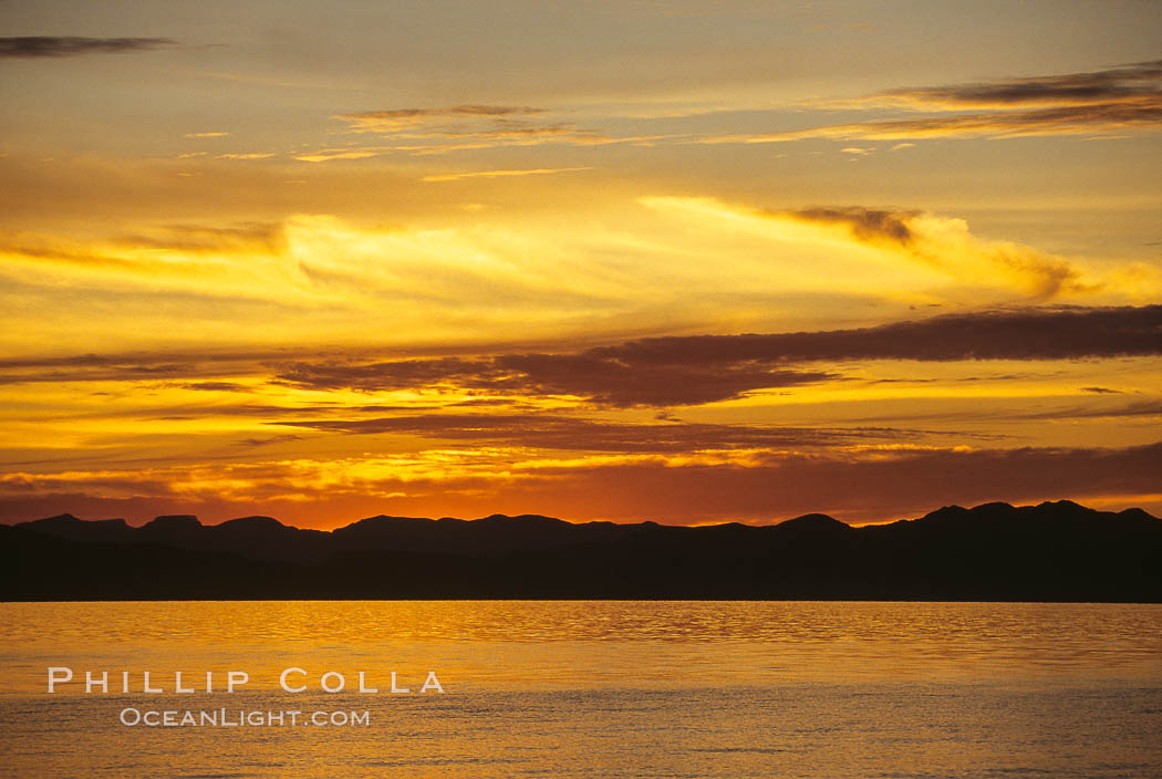 Image 00283, Sunset, clouds and ocean, Sea of Cortez.