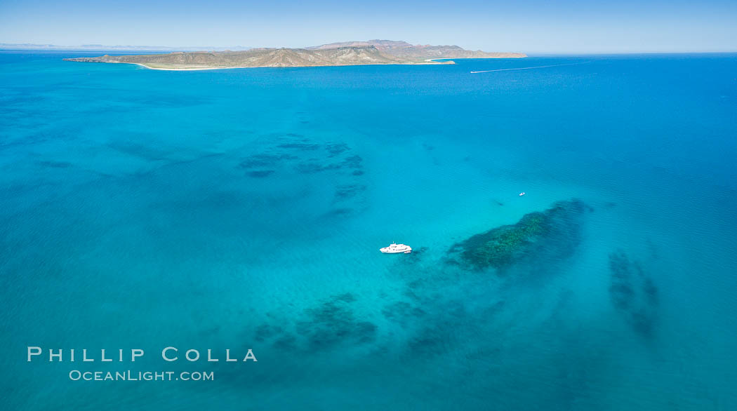 Suwanee Reef, Sea of Cortez, Aerial Photo. Baja California, Mexico, natural history stock photograph, photo id 32363
