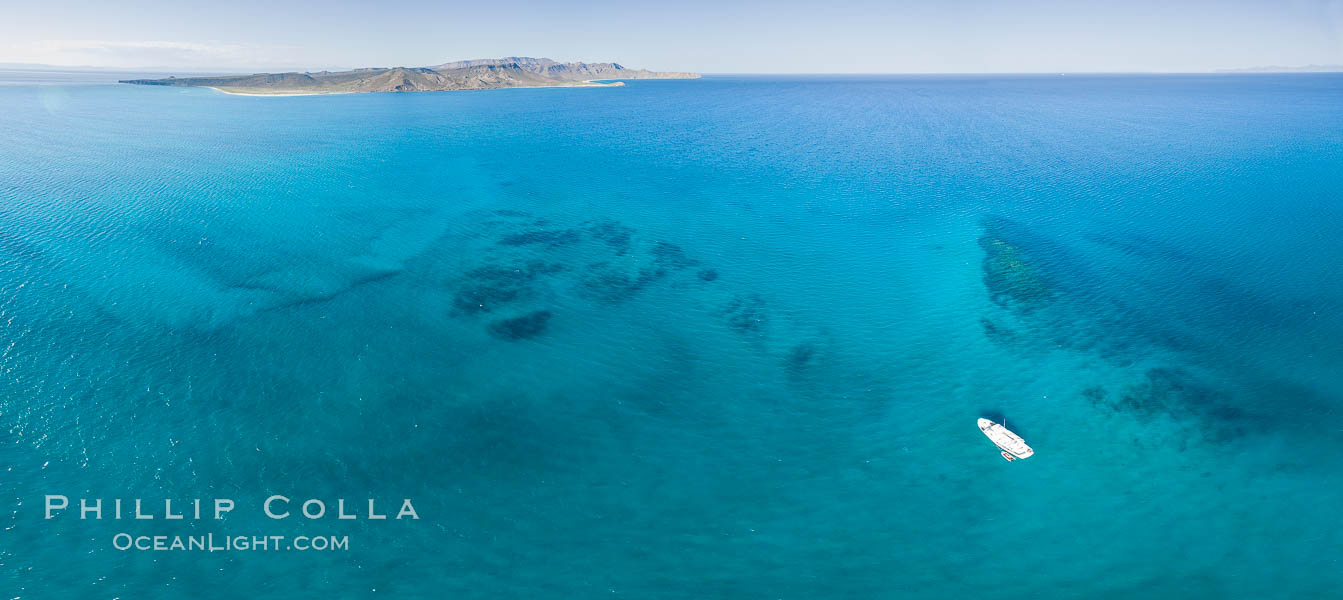 Suwanee Reef, Sea of Cortez, Aerial Photo. Baja California, Mexico, natural history stock photograph, photo id 32367