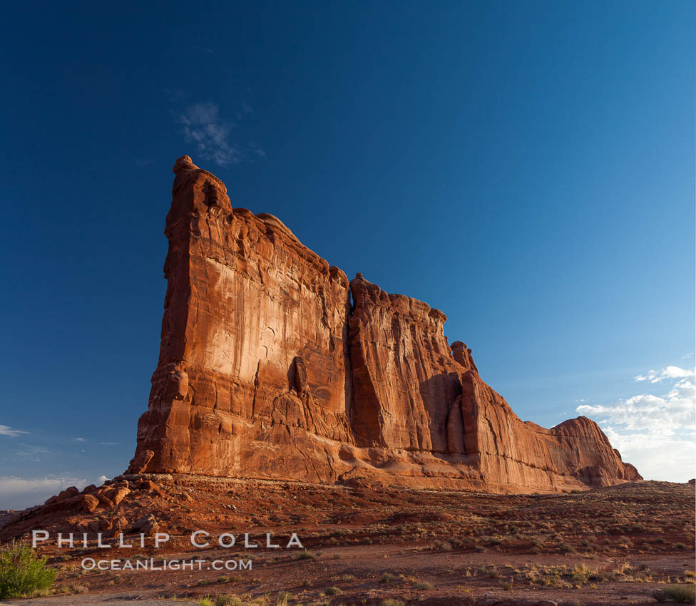 Image 27822, Tower of Babel in morning light. Arches National Park, Utah, USA