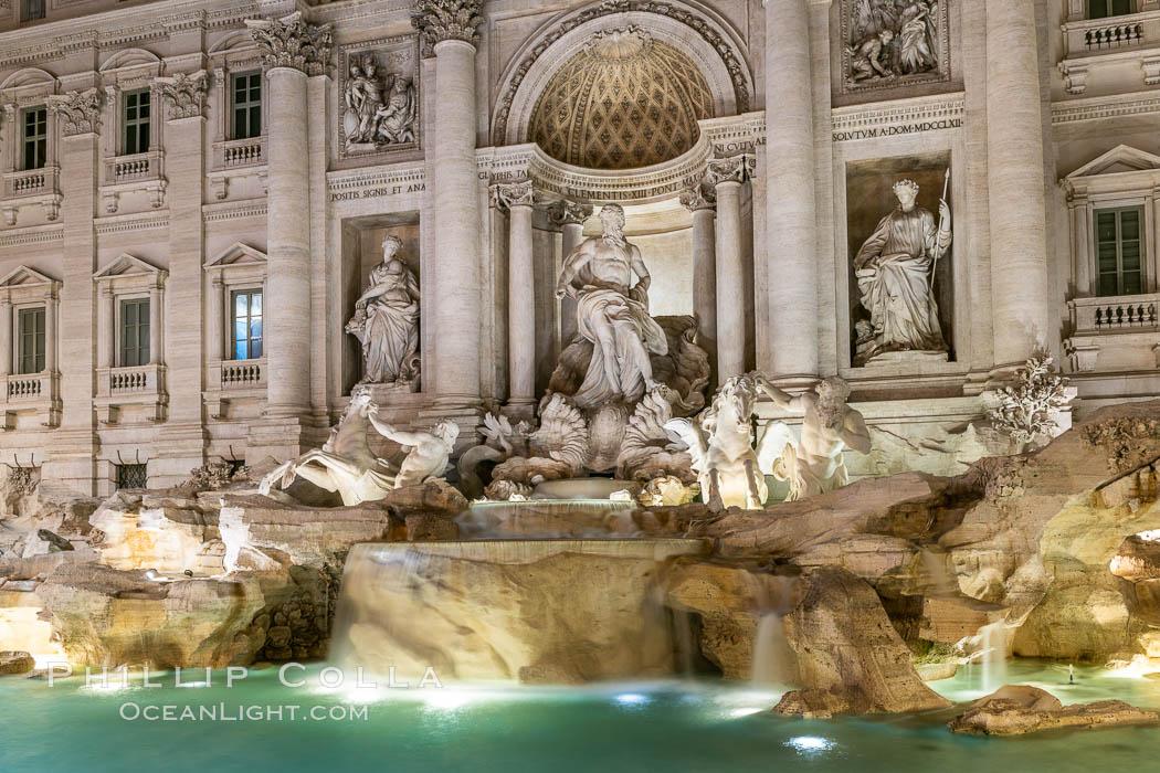 Trevi Fountain, Rome. Trevi Fountain, Rome, Italy, natural history stock photograph, photo id 35549