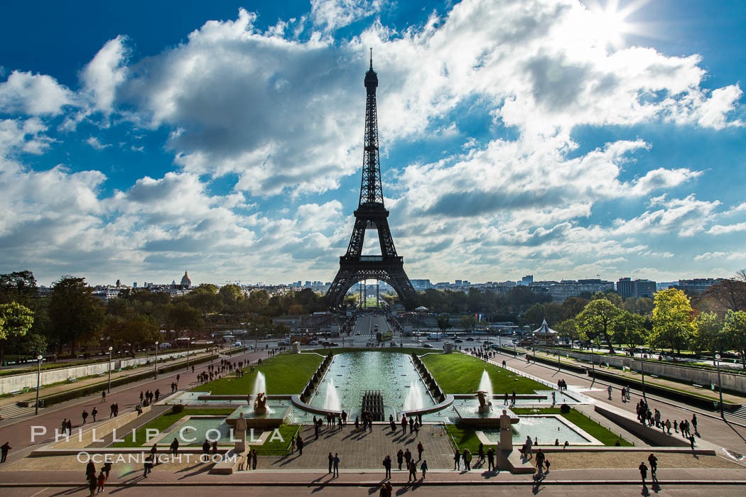 Trocadero. The Trocadero, site of the Palais de Chaillot, is an area of Paris, France, in the 16th arrondissement, across the Seine from the Eiffel Tower. Trocadero, Paris, France, natural history stock photograph, photo id 28259