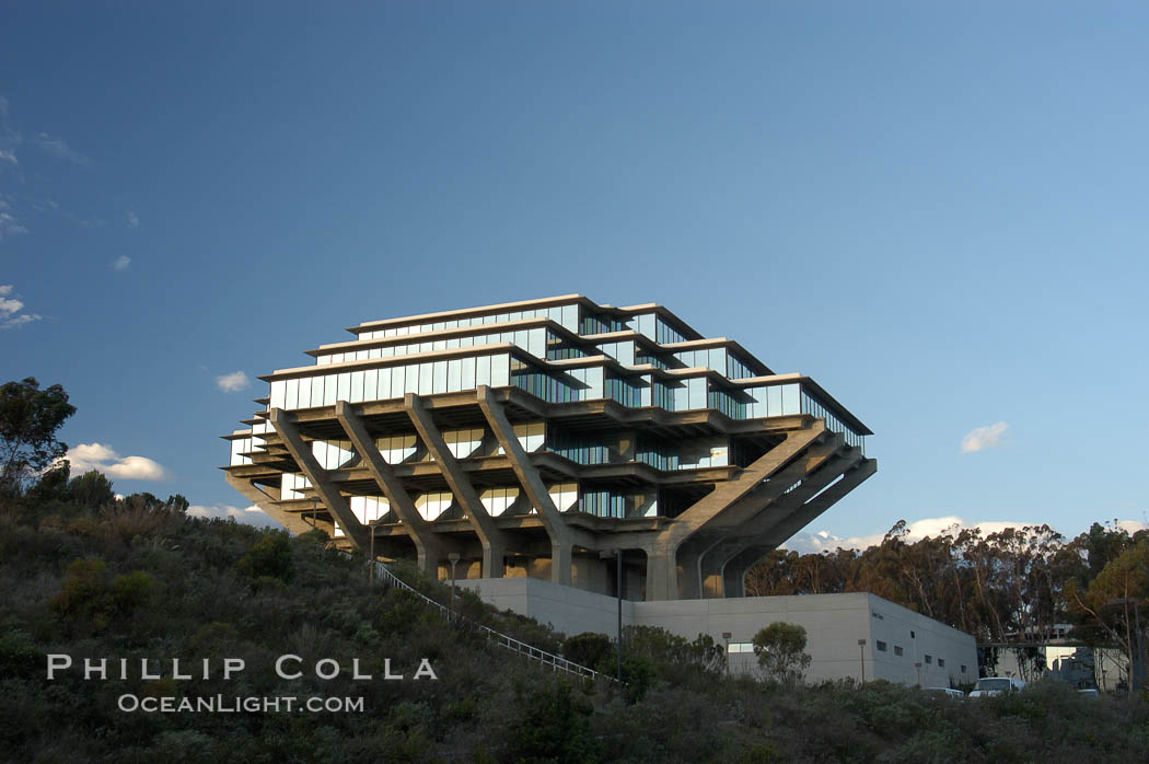 UCSD Library (Geisel Library, UCSD Central Library). University of California, San Diego, La Jolla, California, USA, natural history stock photograph, photo id 06473