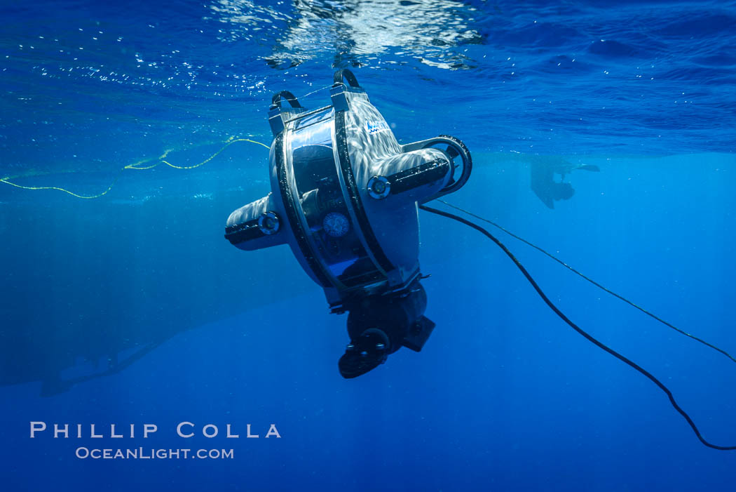 Underwater ROV Preparing to Dive at Clipperton Island. France, natural history stock photograph, photo id 32964