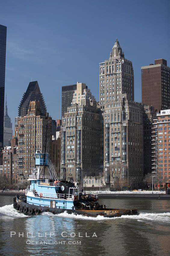 New York Citys Upper East Side, viewed from the East River. Manhattan, New York City, New York, USA, natural history stock photograph, photo id 11140
