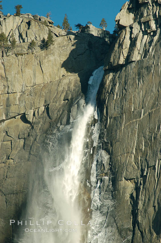 Yosemite Falls, winter, Yosemite Valley. Yosemite National Park, California, USA, natural history stock photograph, photo id 06995