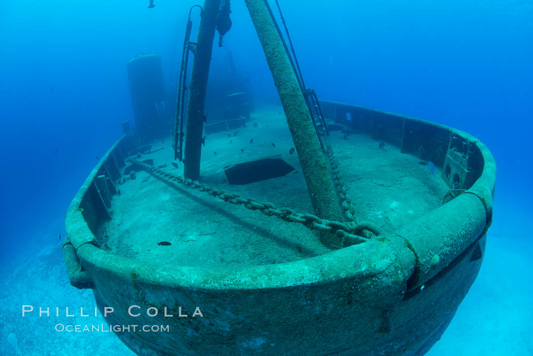 USS Kittiwake wreck, sunk off Seven Mile Beach on Grand Cayman Island to form an underwater marine park and dive attraction. Cayman Islands, natural history stock photograph, photo id 32142