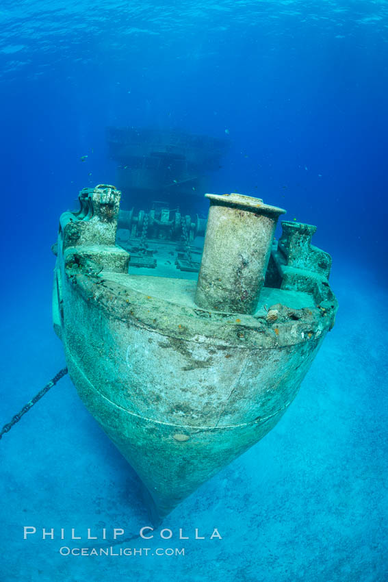 USS Kittiwake wreck, sunk off Seven Mile Beach on Grand Cayman Island to form an underwater marine park and dive attraction. Cayman Islands, natural history stock photograph, photo id 32144