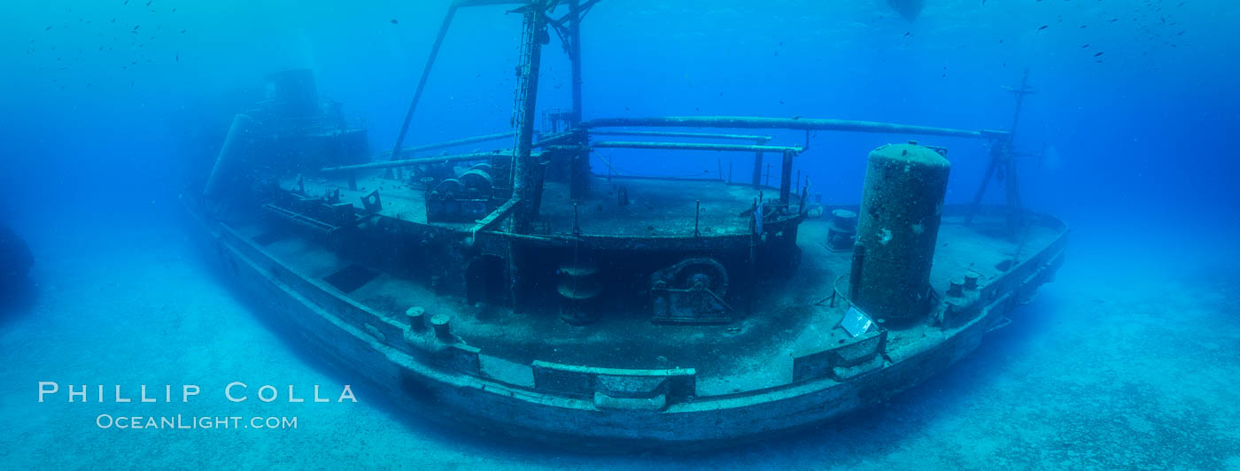 Image 32255, USS Kittiwake wreck, sunk off Seven Mile Beach on Grand Cayman Island to form an underwater marine park and dive attraction., Phillip Colla, all rights reserved worldwide. Keywords: dive park, marine park, uss kittiwake, wreck.