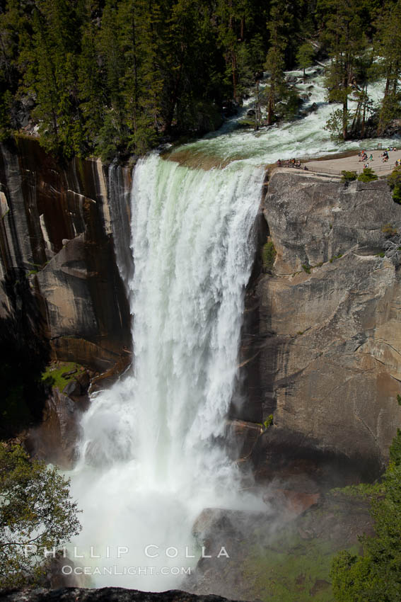 Vernal Falls and Merced River in spring, heavy flow due to snow melt in the high country above Yosemite Valley. Yosemite National Park, California, USA, natural history stock photograph, photo id 26895