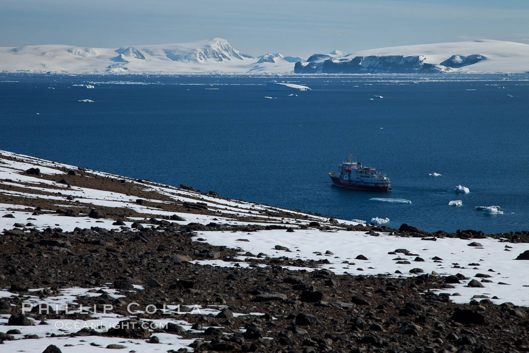 View from the summit of Devil Island. Antarctic Peninsula, Antarctica, natural history stock photograph, photo id 24881