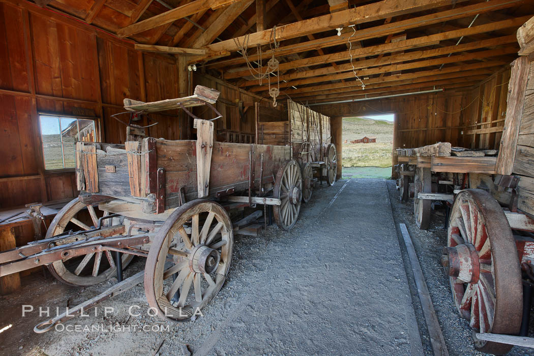 Wagon, near I.O.O.F. Hall. Bodie State Historical Park, California, USA, natural history stock photograph, photo id 23133