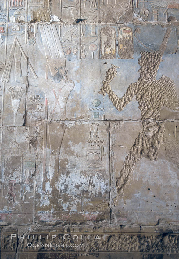 Wall detail, Karnak Temple complex. Luxor, Egypt, natural history stock photograph, photo id 18481