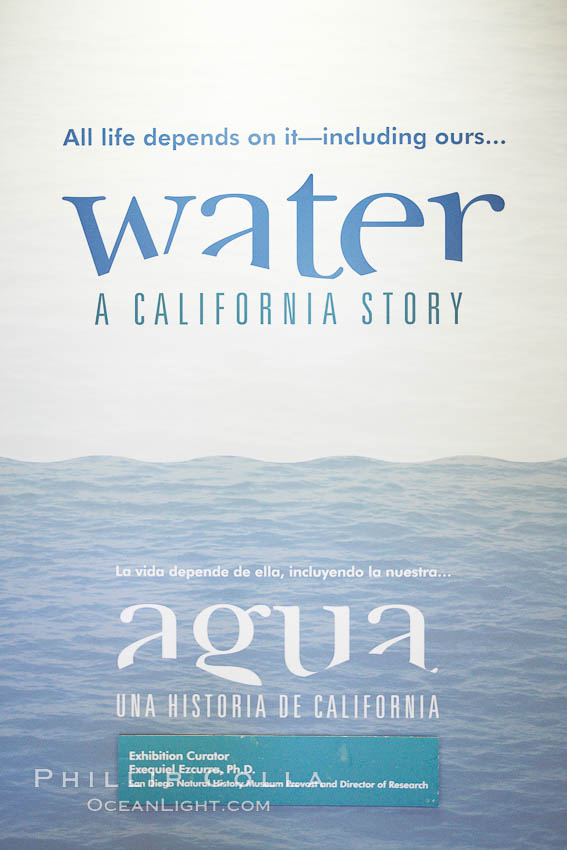 """Water"" exhibit, San Diego Natural History Museum. Balboa Park, San Diego, California, USA, natural history stock photograph, photo id 22181"