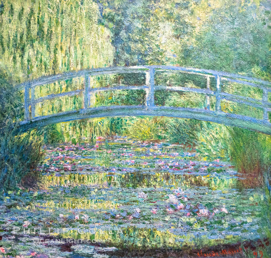 Water Lily Pond, Green Harmony, 1899, Claude Monet, Musee d'Orsay, Paris. Musee dOrsay, France, natural history stock photograph, photo id 35615
