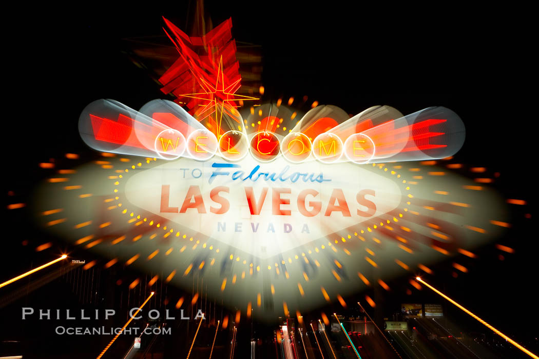 Welcome to Fabulous Las Vegas.  What happens in Vegas stays in Vegas. Las Vegas, Nevada, USA, natural history stock photograph, photo id 20698