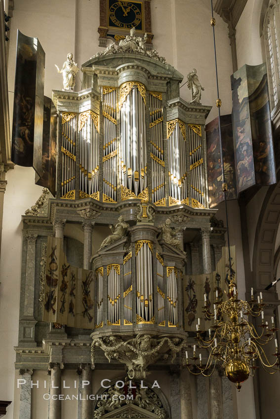 Westerkerk Organ Pipes, Amsterdam. Holland, Netherlands, natural history stock photograph, photo id 29442