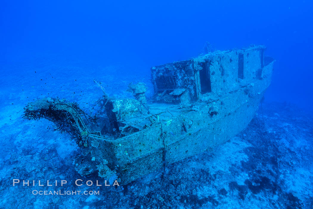 Wreck of the Nasi Yalo Dina, Fiji. The Nasi Yalodina was a Fijian medical ship that sunk after striking the reef here in 2001., natural history stock photograph, photo id 31342